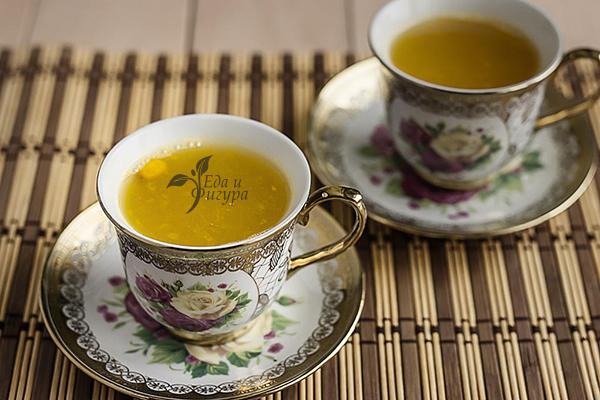 Белый чай с облепихой
