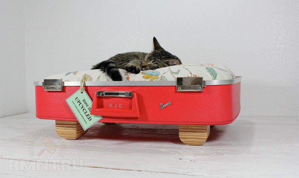 Домик для кошки из чемодана
