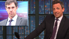Seth Meyers Conducts New Trump Test On Beto, Draws 'F**king Weird' Conclusion