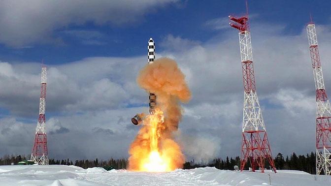 Пуск новейшей ракеты «Сармат» показали на видео