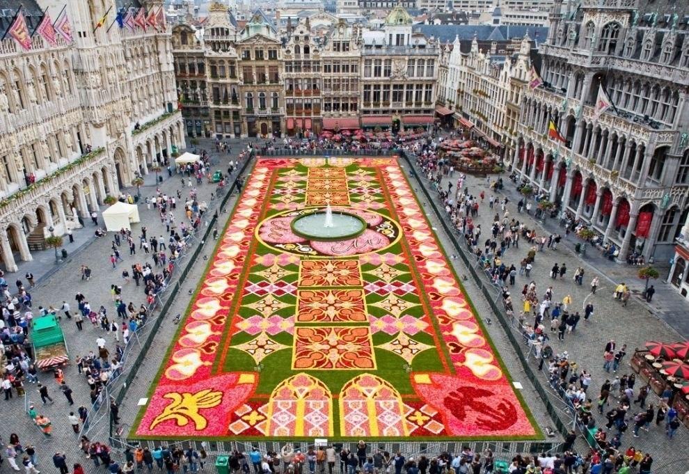 Ковры из цветов в Бельгии