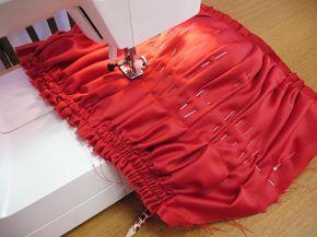 Как шить ниткой-резинкой: мастер-класс