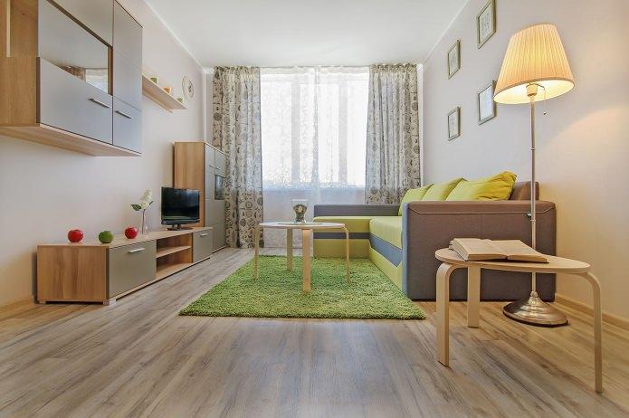 Современный интерьер однокомнатной квартиры 42 кв. м. от компании PLANiUM