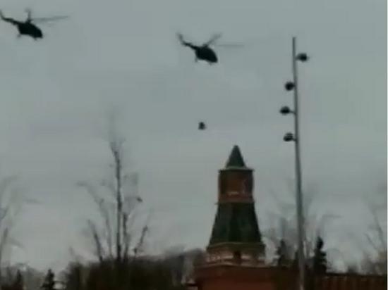 ФСО отказалась комментировать взлет из Кремля вертолетов с вооруженными людьми