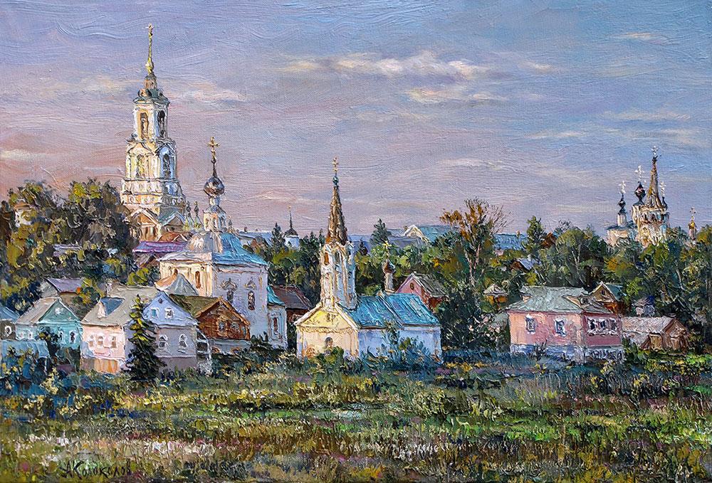 художник  Колоколов Антон,  Вид Суздаля