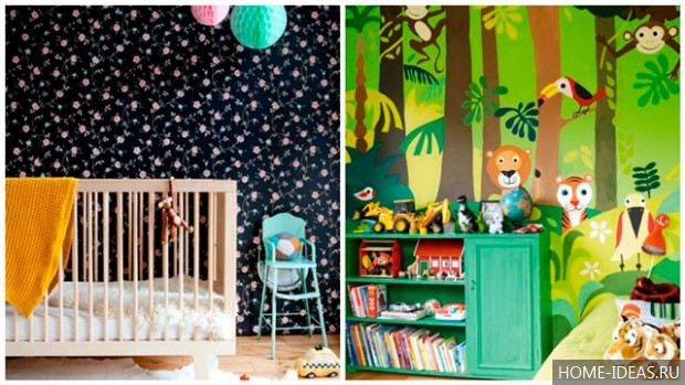 Обои для детской комнаты для мальчика: фото