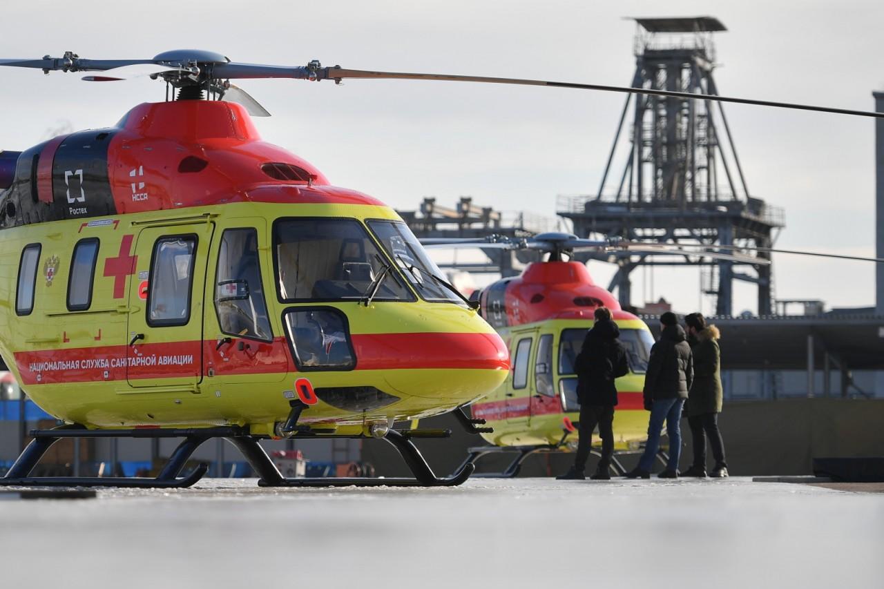 Национальная служба санитарной авиации получила первые восемь вертолетов Ми-8 и «Ансат»