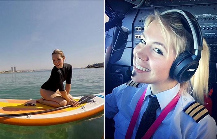 Блондинка за штурвалом: фотографии девушки-пилота покорили Интернет