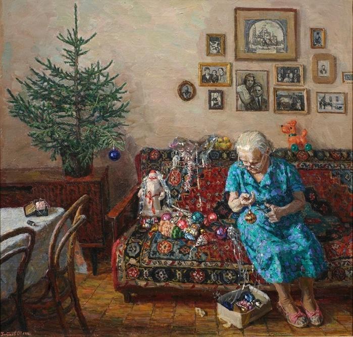 Новый Год в русской и советской живописи
