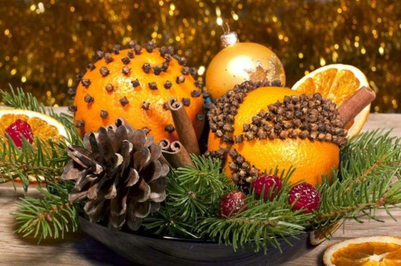 Апельсиновый декор на Новый год!
