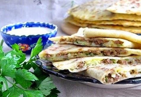 Турецкие лепёшки с начинкой