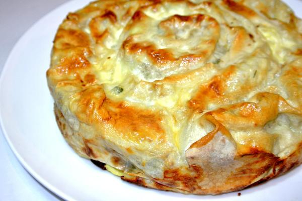 Пирог из лаваша с грибами в духовке рецепты с
