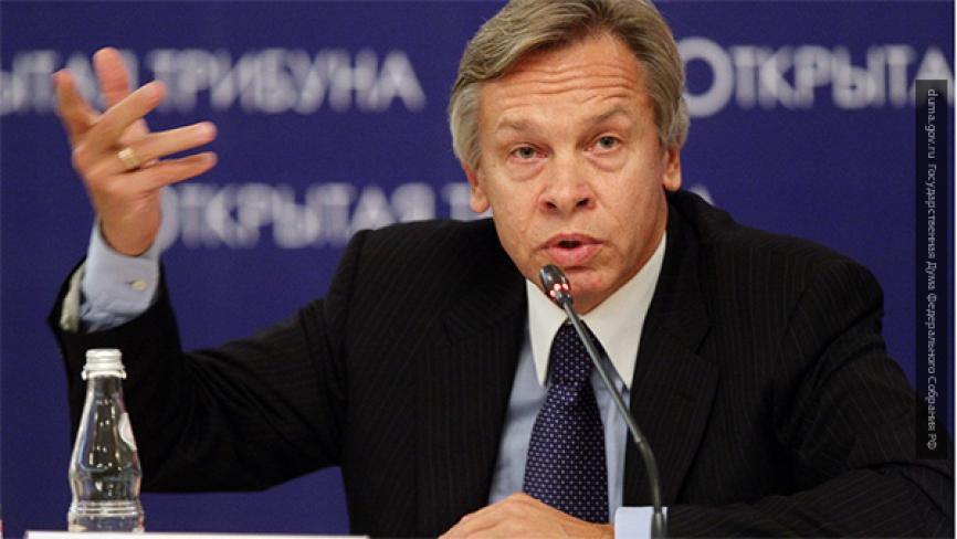 Пушков высмеял заявление Порошенко о «полномасштабной войне с Россией»