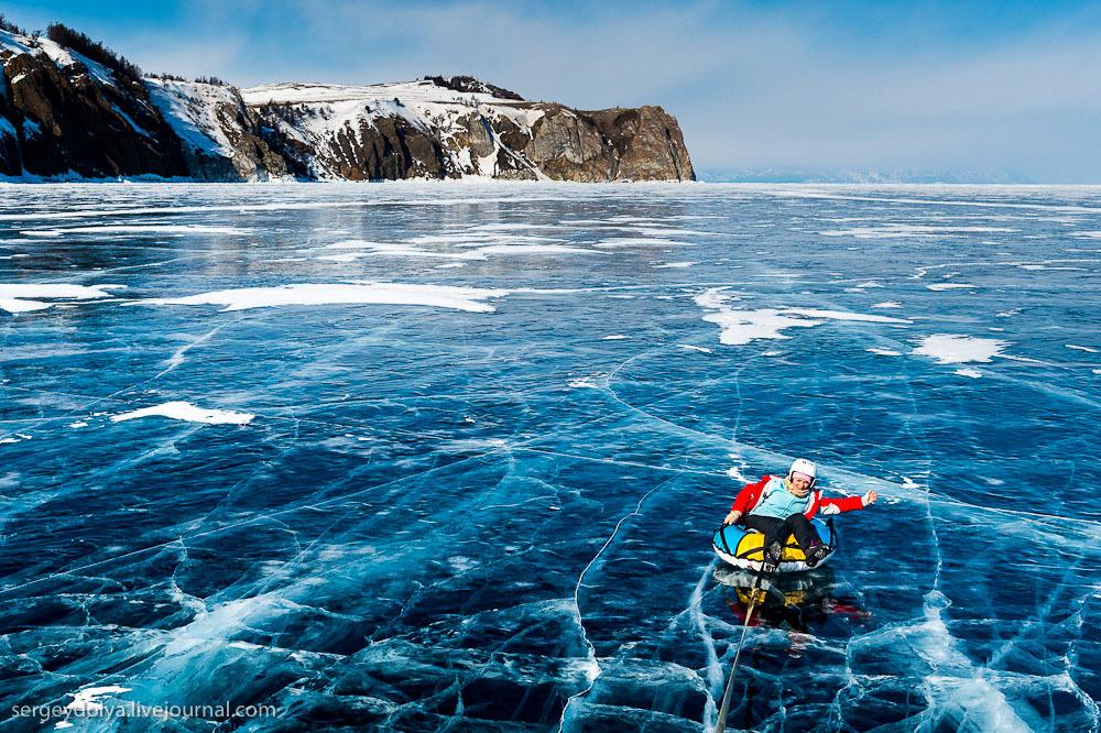 Какие развлечения на льду может предложить Байкал