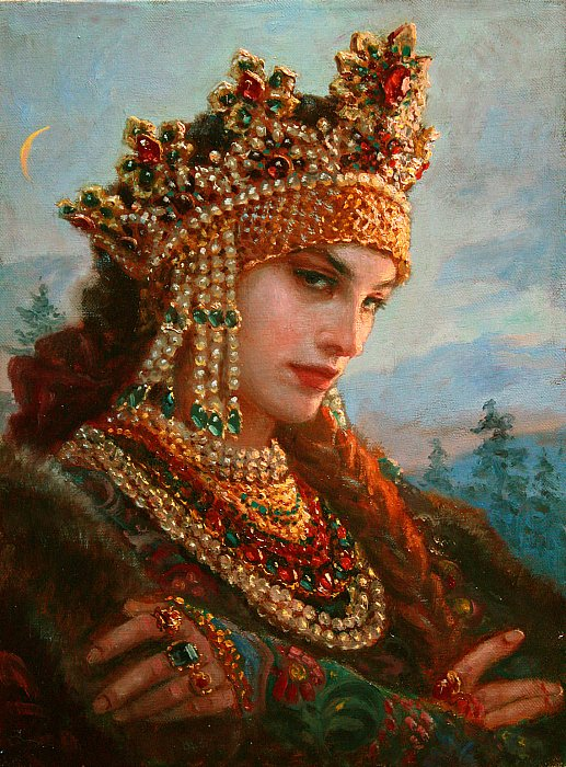 Потрясающие портреты и образы. Современный художник Андрей Шишкин