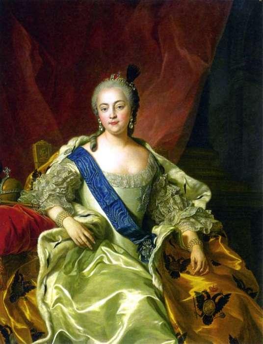 Портрет императрицы Елизаветы Петровны. К. Ванлоо. 1760 год.