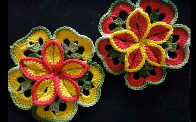 Вязание объемных цветов