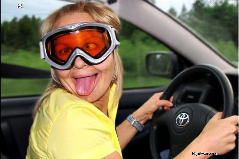 Когда баба за рулем - ей все не почем!!!