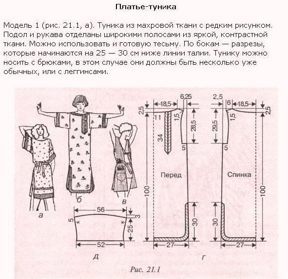 Шитье простой домашней женской одежды