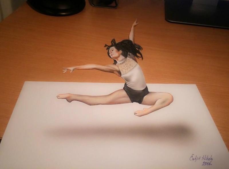 А вы отличите эти объемные рисунки от реальности? живопись, как живые, картины, необычно, объемные иллюстрации, рисунки в 3D, удивительно, художник