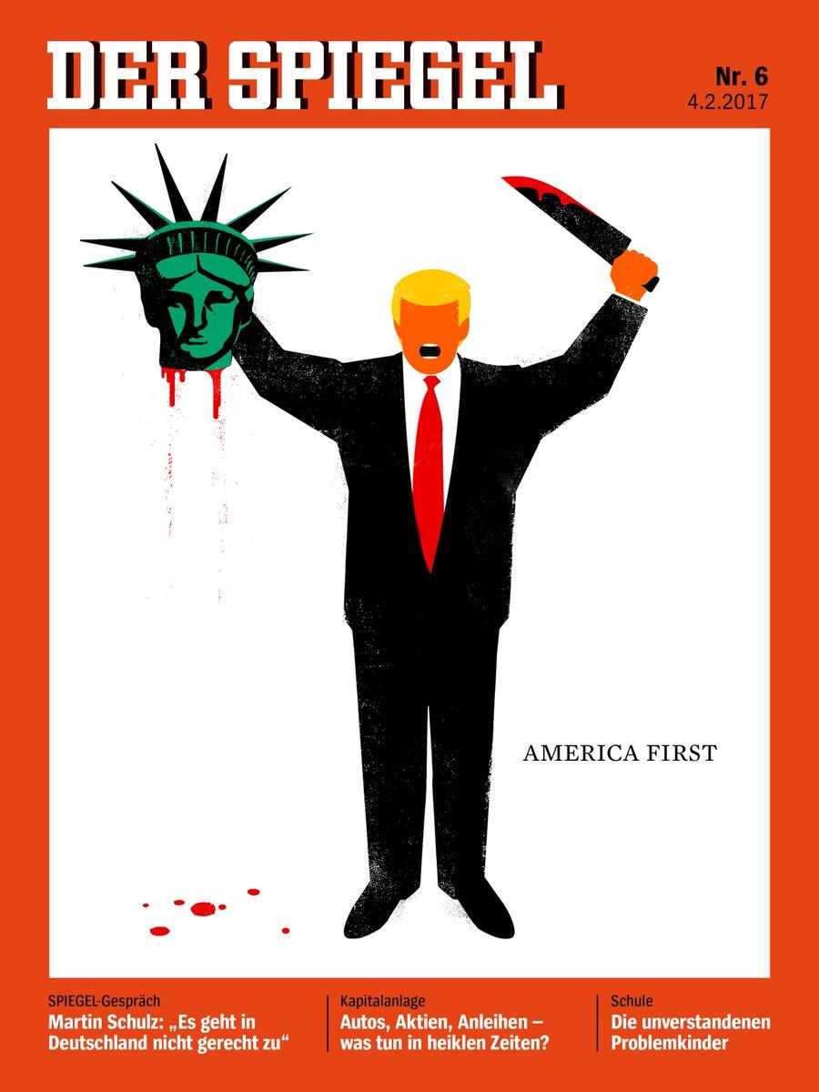 """""""Шпигель"""" поместил на обложку Трампа с отрезанной головой статуи Свободы"""