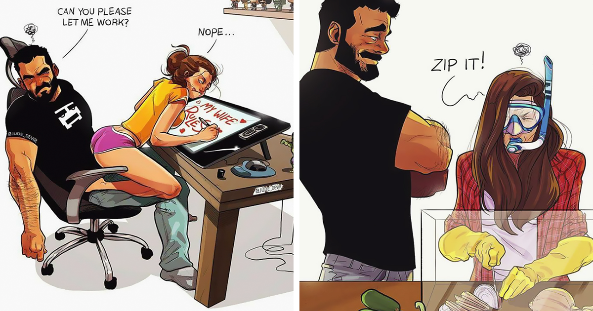 Artist Illustrates Everyday Life With His Wife (21 New Comics)
