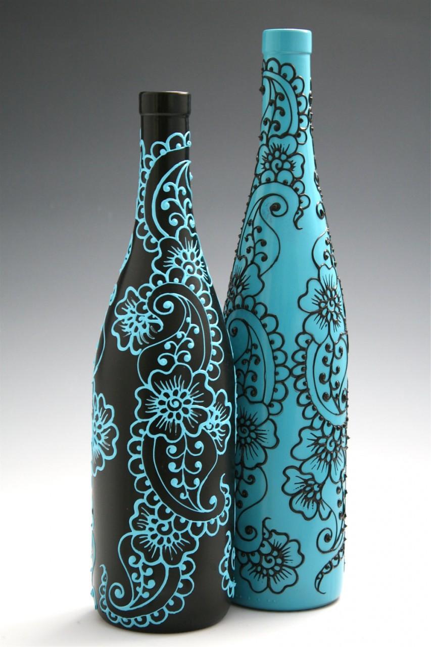 Красивые узоры на бутылках