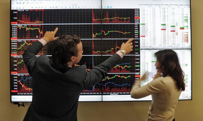 Индекс ММВБ упал на2,5%, индекс РТС— на4,6%