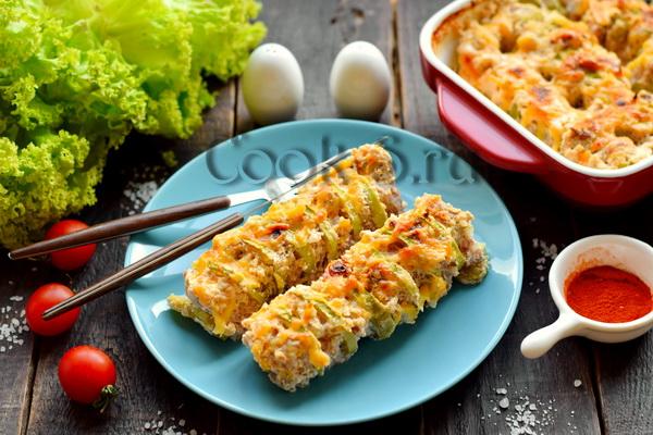 кабачки с фаршем запеченные в духовке рецепт с фото
