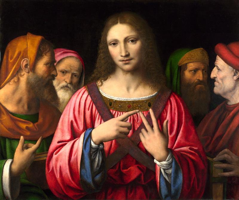 Bernardino Luini - Christ among the Doctors. Национальная галерея, Часть 1