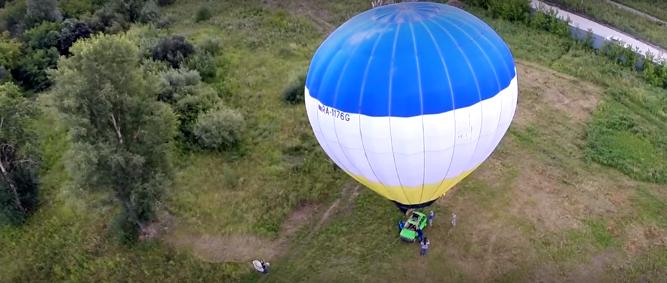 """В Новосибирске мужчину оштрафовали за использование """"Оки"""" вместо корзины на воздушном шаре"""