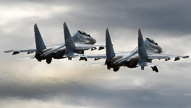 Минобороны прокомментировало сближение Су-30 и F-15 НАТО над Балтикой