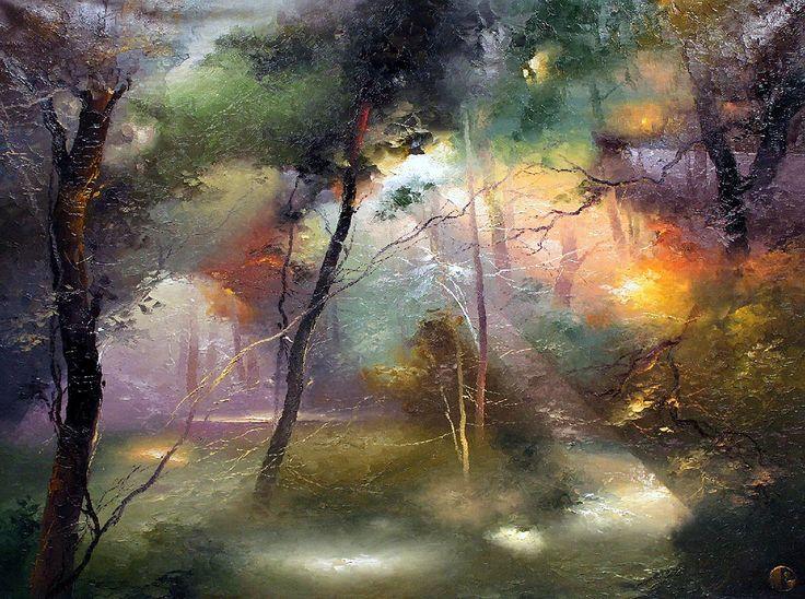 Загадочный мир и много света: удивительная живопись Петраса Лукосиуса