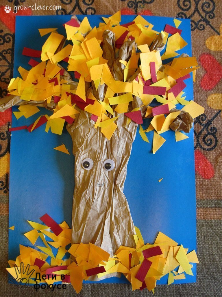 Поделки осенние дерево в детский сад