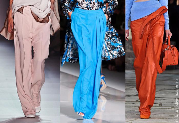 Шъём трендовые брюки палаццо из принтовой ткани