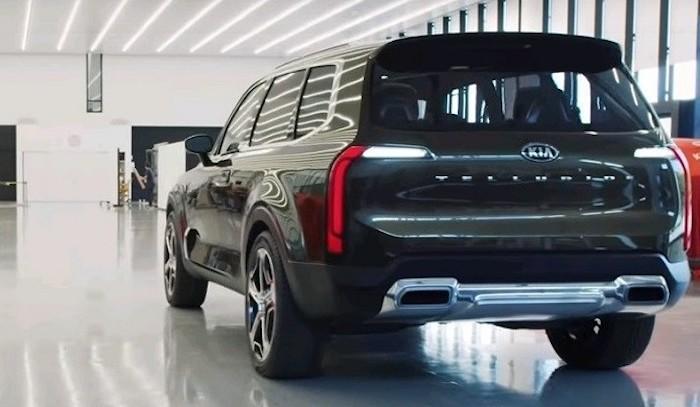 Kia рассекретила подробности дизайна нового внедорожника Telluride