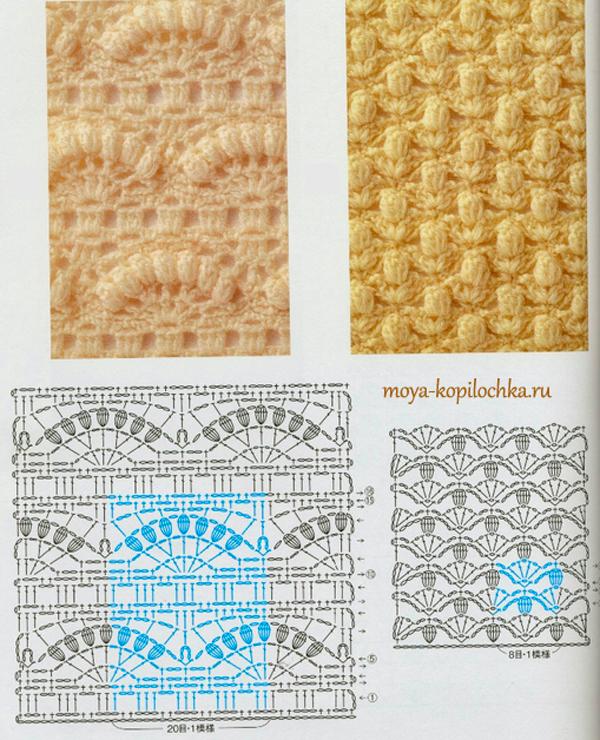 Коллекция вязания крючком схем и узоров
