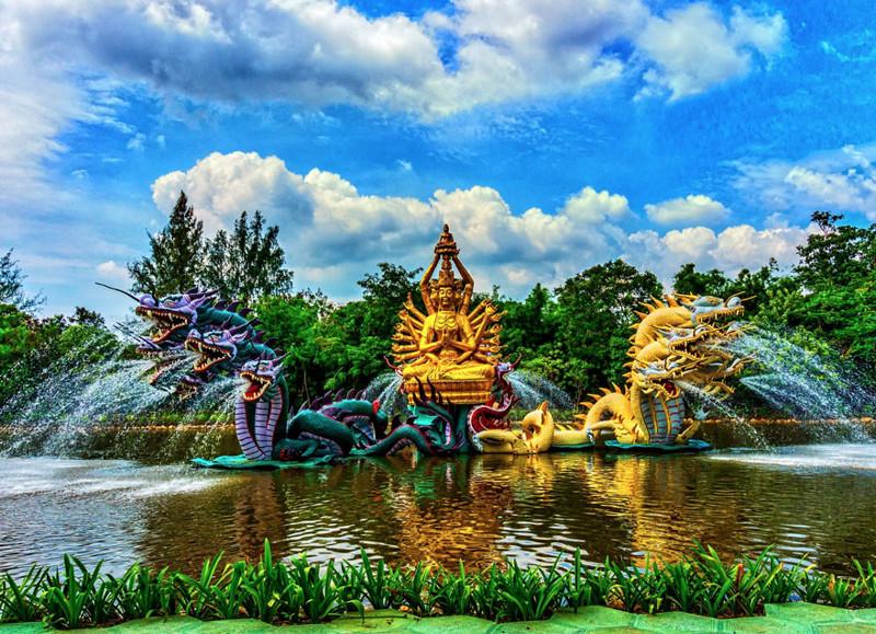 """""""Бодхисаттва Авалокитешвара"""", Древний Город, Таиланд город, достопримечательность, интересное, мир, подборка, страна, фонтан, фото"""