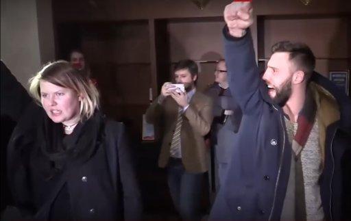 Российские активисты сорвали брифинг ОБСЕ вМинске