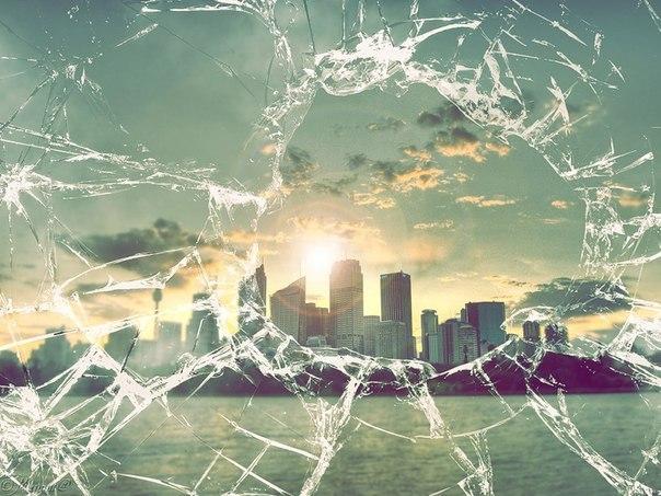 Как вынуть разбитое стекло.