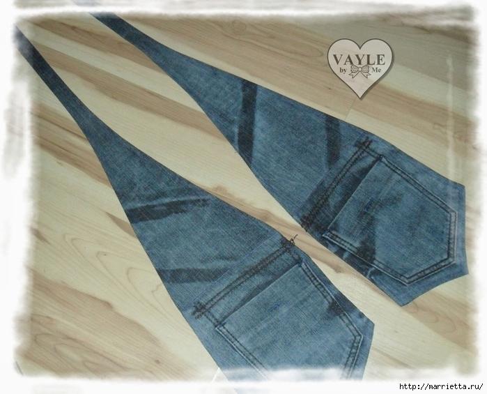 Как сшить жилет из старых джинсов (20) (700x565, 269Kb)