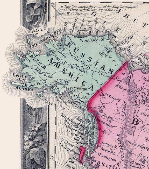 Русская Америка в 1860 году.