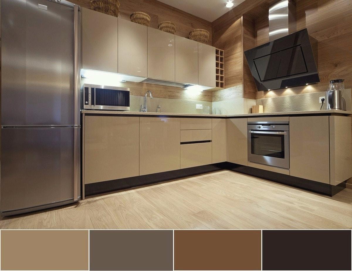 Удивительно нежное сочетание мягких и теплых оттенком коричневого и серого цвета
