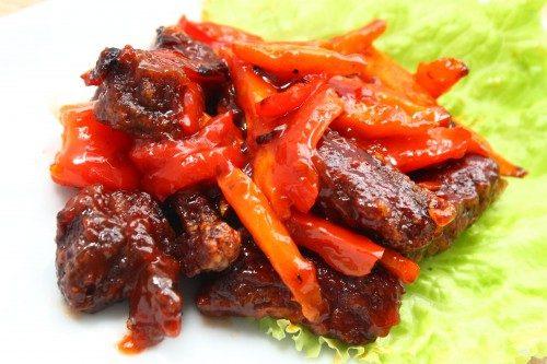 Рецепты блюд из мяса и болгарского перца