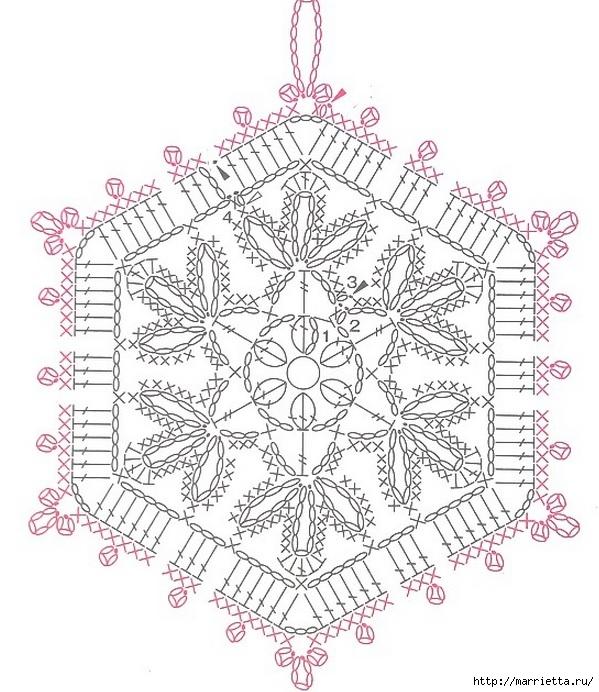 Вязание крючком. Прихватка с объемной розой (21) (599x692, 269Kb)