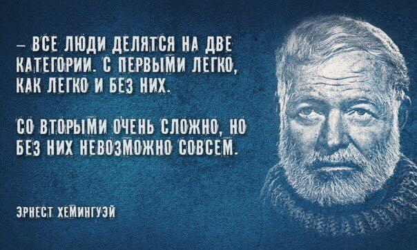 Мудрые цитаты Хемингуэя.