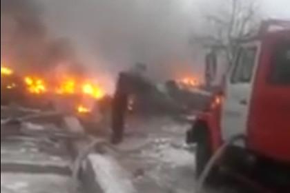 Опубликовано видео с места падения самолета под Бишкеком
