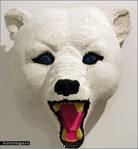 Огнеопасно! Скульптуры из спичек от David Mach.
