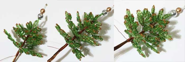 дерево из бисера своими руками елочка