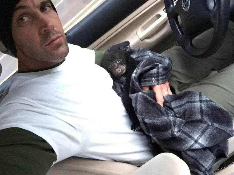 Житель штата Орегон спас умирающего в лесу 3-х месячного медвежонка